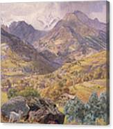 The Val D'aosta Canvas Print