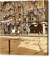 The Vaudeville Theatre In Shamokin Pa Around 1910 Canvas Print