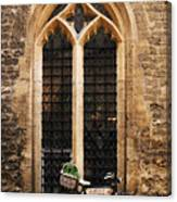 The Vaults Garden Cafe Bicycle In Oxford England Canvas Print