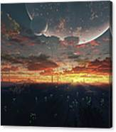 The View From An Alien Moon Towards Canvas Print