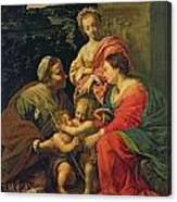 The Virgin And Child With Saints Canvas Print