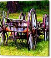 The Wagon At El Prado Canvas Print