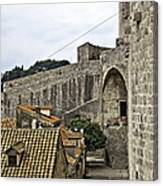 The Wall In Dubrovnik Canvas Print