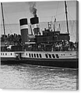 The Waverley Paddle Steamer Mono Canvas Print