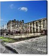 The West Virginia State Penitentiary Courtyard Outside Canvas Print