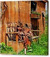 The Western Saddle Canvas Print