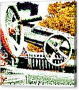 The Wheels Of War Keep On Turning Canvas Print