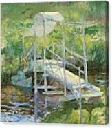 The White Bridge Canvas Print