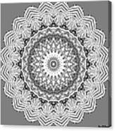 The White Mandala No. 2 Canvas Print