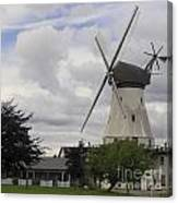 The White Windmill Canvas Print