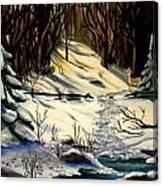 The Winter Trail Canvas Print