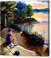 The Wish To Fish Canvas Print