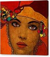 The Woman Ruby Canvas Print