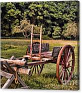 The Wooden Cart Canvas Print