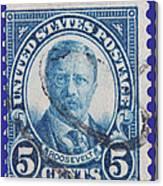 Theodore Roosevelt Postage Stamp Canvas Print