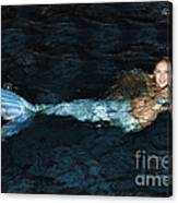 There Is A Mermaid In The Pool Canvas Print