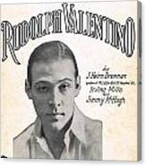 There's A New Star In Heaven Tonight Rudolph Valentino Canvas Print