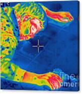 Thermogram Crime Scene Canvas Print