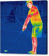 Thermogram Of A Golfer Canvas Print