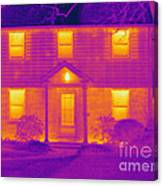 Thermogram Of A House In Winter Canvas Print