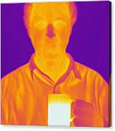 Thermogram Of A Man Canvas Print