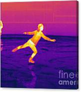 Thermogram Of A Skater Canvas Print