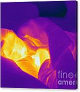Thermogram Of A Sleeping Girl Canvas Print