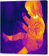 Thermogram Of A Young Girl Canvas Print