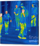 Thermogram Of Kids Hanging Canvas Print
