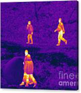 Thermogram Of People Walking Canvas Print