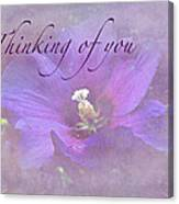 Thinking Of You Greeting Card - Rose Of Sharon Canvas Print
