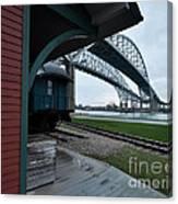 Thomas Edison Depot And Blue Water Bridges 2012 Canvas Print