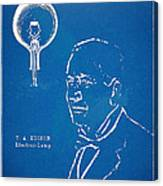 Thomas Edison Lightbulb Patent Artwork Canvas Print