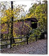 Thomas Mill Covered Bridge Over The Wissahickon Canvas Print
