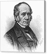 Thomas O. Larkin (1802-1858). American Merchant And California Pioneer. Wood Engraving, 19th Century Canvas Print