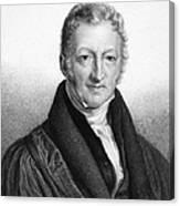 Thomas Robert Malthus Canvas Print