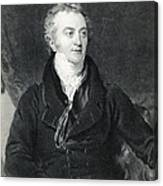 Thomas Young, English Polymath Canvas Print