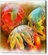 Three Balls - Watercolor Canvas Print