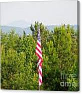 Three Flags And Kennesaw Mountain Canvas Print