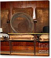 Three Hats A Lasso And A Cane At The Old Movie Theater . 7d12726 Canvas Print