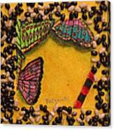 Three Mariposas Canvas Print