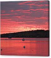 Three Master Sunrise Canvas Print