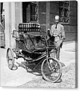 Three-wheel Automobile Canvas Print
