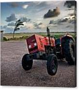Three Wheeled Tractor Canvas Print