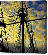 Through The Rigging Canvas Print