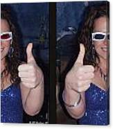 Thumbs Up - Gently Cross Your Eyes And Focus On The Middle Image Canvas Print