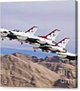 Thunderbirds Gear Up Canvas Print