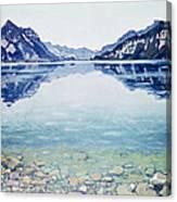 Thunersee Von Leissigen Canvas Print