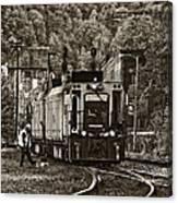Thurmond Wv Train Sepia Canvas Print