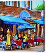 Ti Amo Restaurant Prince Arthur Street Montreal Canvas Print
